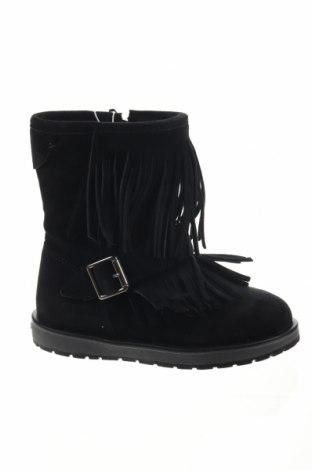 Детски обувки Geox, Размер 27, Цвят Черен, Естествен велур, Цена 98,58лв.