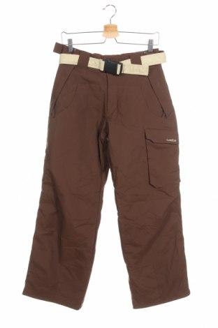Детски панталон за зимни спортове Wedze, Размер 12-13y/ 158-164 см, Цвят Кафяв, Полиамид, Цена 22,49лв.