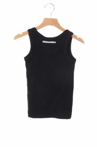 Μπλουζάκι αμάνικο παιδικό Dsquared2, Μέγεθος 5-6y/ 116-122 εκ., Χρώμα Μαύρο, 94% βαμβάκι, 6% ελαστάνη, Τιμή 28,07€