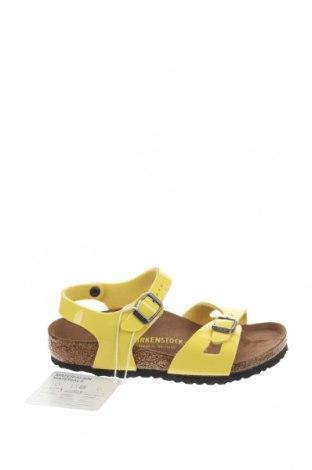 Παιδικά σανδάλια Birkenstock, Μέγεθος 30, Χρώμα Κίτρινο, Δερματίνη, Τιμή 32,12€