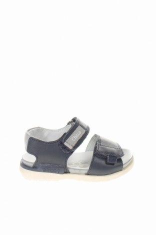 Детски сандали Chicco, Размер 20, Цвят Син, Естествена кожа, Цена 46,50лв.