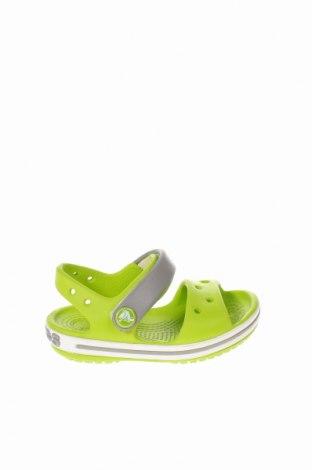 Детски сандали Crocs, Размер 19, Цвят Зелен, Полиуретан, Цена 32,40лв.