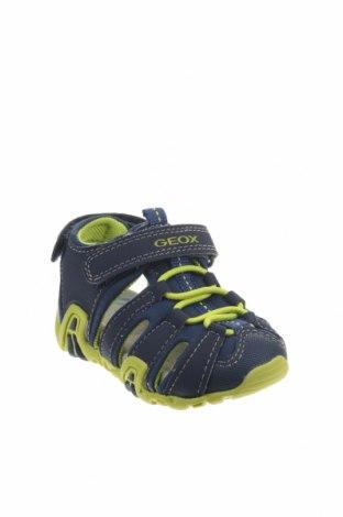Παιδικά σανδάλια Geox, Μέγεθος 20, Χρώμα Μπλέ, Δερματίνη, κλωστοϋφαντουργικά προϊόντα, Τιμή 23,62€