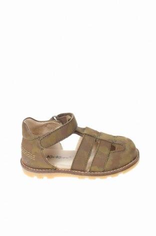 Παιδικά σανδάλια Kickers, Μέγεθος 21, Χρώμα Πράσινο, Γνήσιο δέρμα, Τιμή 20,13€
