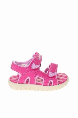 Παιδικά σανδάλια Timberland, Μέγεθος 21, Χρώμα Ρόζ , Δερματίνη, Τιμή 31,20€