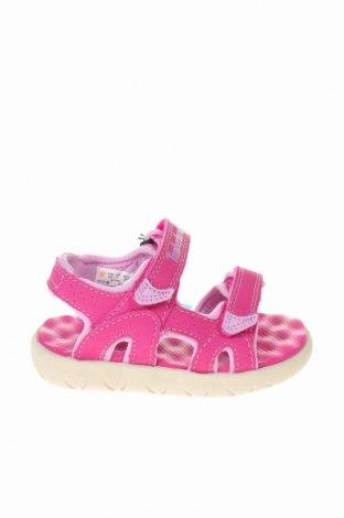 Παιδικά σανδάλια Timberland, Μέγεθος 22, Χρώμα Ρόζ , Δερματίνη, Τιμή 32,12€