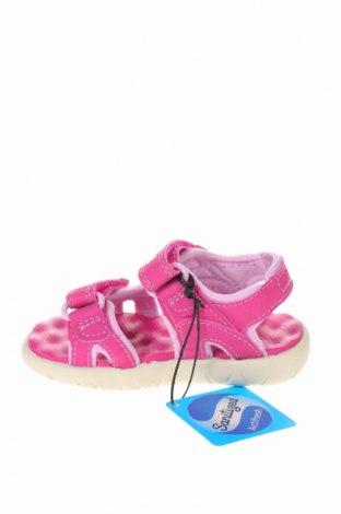 Παιδικά σανδάλια Timberland, Μέγεθος 22, Χρώμα Ρόζ , Δερματίνη, Τιμή 31,20€