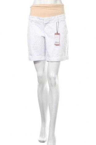 Γυναικείο κοντό παντελόνι εγκυμοσύνης, Μέγεθος L, Χρώμα Λευκό, 98% βαμβάκι, 2% ελαστάνη, Τιμή 14,07€