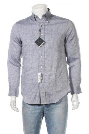 Мъжка риза Brooks Brothers, Размер S, Цвят Син, 100% лен, Цена 51,17лв.