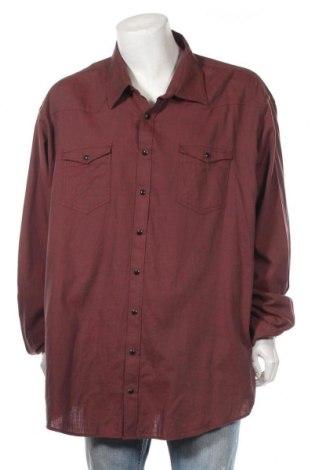 Мъжка риза Jp, Размер 5XL, Цвят Червен, Памук, Цена 17,96лв.