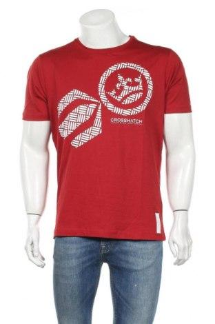 Ανδρικό t-shirt Crosshatch, Μέγεθος L, Χρώμα Κόκκινο, Βαμβάκι, Τιμή 13,67€