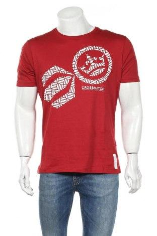 Ανδρικό t-shirt Crosshatch, Μέγεθος L, Χρώμα Κόκκινο, Βαμβάκι, Τιμή 12,86€