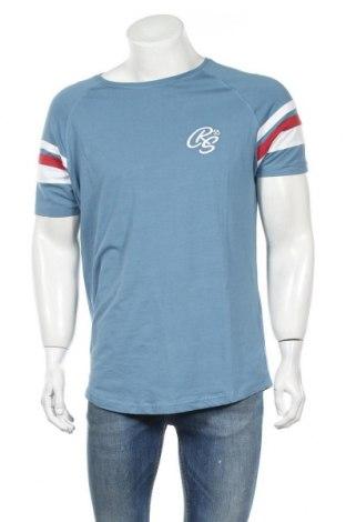 Ανδρικό t-shirt Crosshatch, Μέγεθος L, Χρώμα Μπλέ, 95% βαμβάκι, 5% ελαστάνη, Τιμή 14,07€