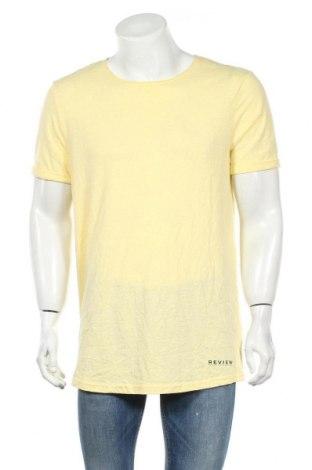 Ανδρικό t-shirt Review, Μέγεθος L, Χρώμα Κίτρινο, 50% πολυεστέρας, 38% βαμβάκι, 12% βισκόζη, Τιμή 6,96€