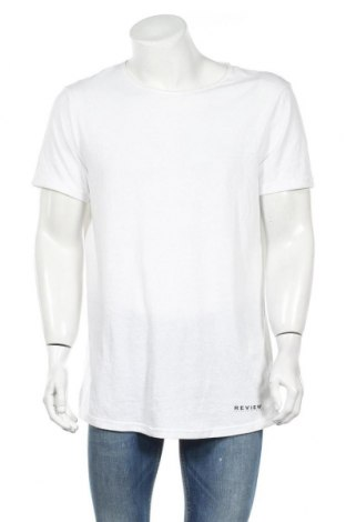 Ανδρικό t-shirt Review, Μέγεθος L, Χρώμα Λευκό, 50% πολυεστέρας, 38% βαμβάκι, 12% βισκόζη, Τιμή 6,96€