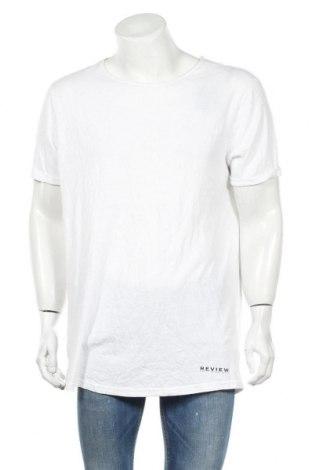 Ανδρικό t-shirt Review, Μέγεθος XL, Χρώμα Λευκό, 50% πολυεστέρας, 38% βαμβάκι, 12% βισκόζη, Τιμή 7,48€