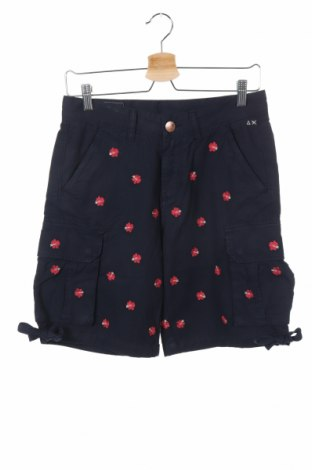 Мъжки къс панталон SUN68, Размер S, Цвят Син, Памук, Цена 28,71лв.