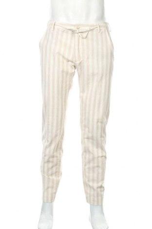 Мъжки панталон Gaudi, Размер M, Цвят Бежов, 55% памук, 45% лен, Цена 63,60лв.