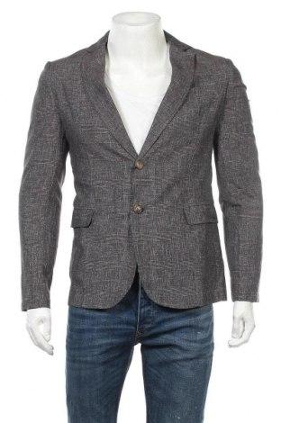 Мъжко сако Trussardi Jeans, Размер M, Цвят Сив, 50% лен, 25% памук, 25% полиестер, Цена 121,05лв.