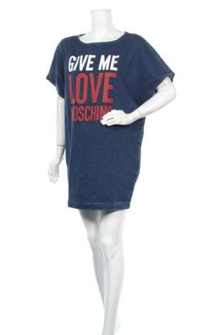 Φόρεμα Love Moschino, Μέγεθος M, Χρώμα Μπλέ, 91% βαμβάκι, 8% πολυεστέρας, 1% ελαστάνη, Τιμή 187,27€