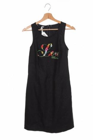Φόρεμα Love Moschino, Μέγεθος M, Χρώμα Μαύρο, 72% βαμβάκι, 27% λινό, 1% ελαστάνη, Τιμή 128,41€