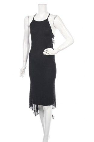 Рокля Patrizia Pepe, Размер S, Цвят Черен, 90% вискоза, 10% коприна, Цена 80,15лв.