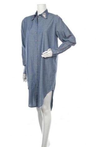 Φόρεμα TWINSET, Μέγεθος M, Χρώμα Μπλέ, Βαμβάκι, Τιμή 65,84€