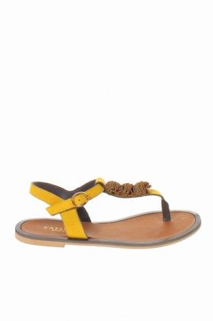 Сандали CAFèNOIR, Размер 37, Цвят Жълт, Естествен велур, Цена 89,25лв.