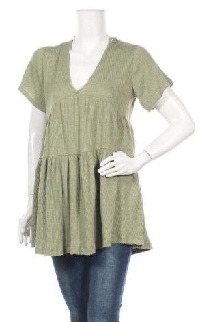 Туника Pull&Bear, Размер S, Цвят Зелен, 50% памук, 50% полиестер, Цена 12,60лв.