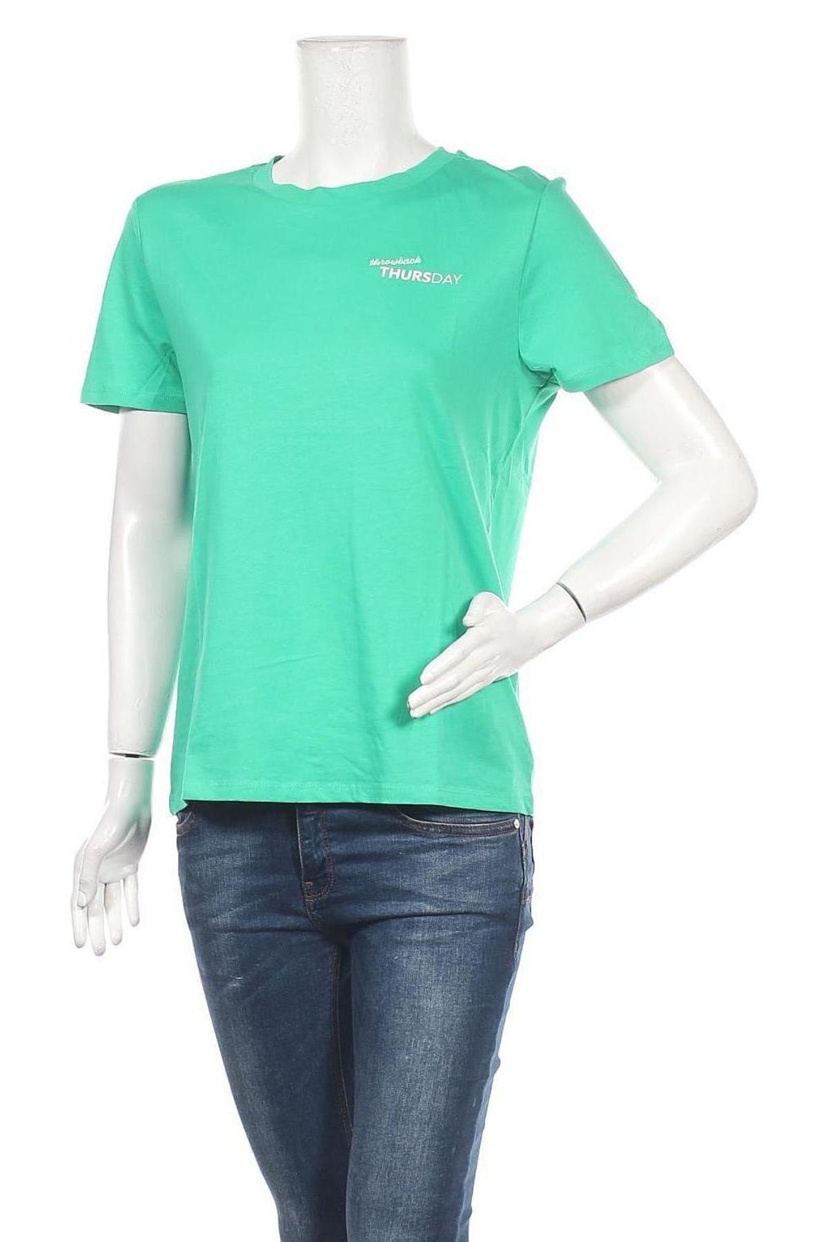 Дамска тениска ONLY, Размер M, Цвят Зелен, 100% памук, Цена 16,20лв.