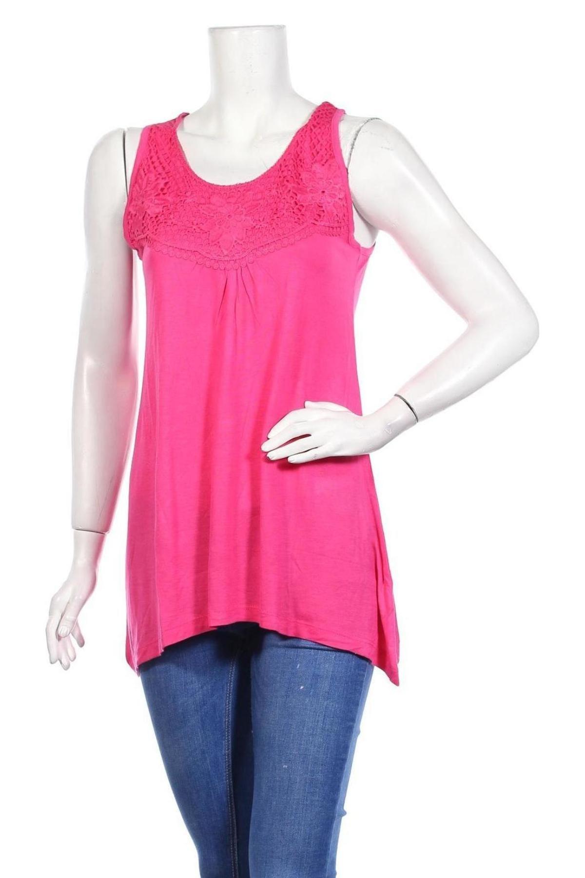 Γυναικείο αμάνικο μπλουζάκι Be You, Μέγεθος M, Χρώμα Ρόζ , Βισκόζη, Τιμή 4,73€