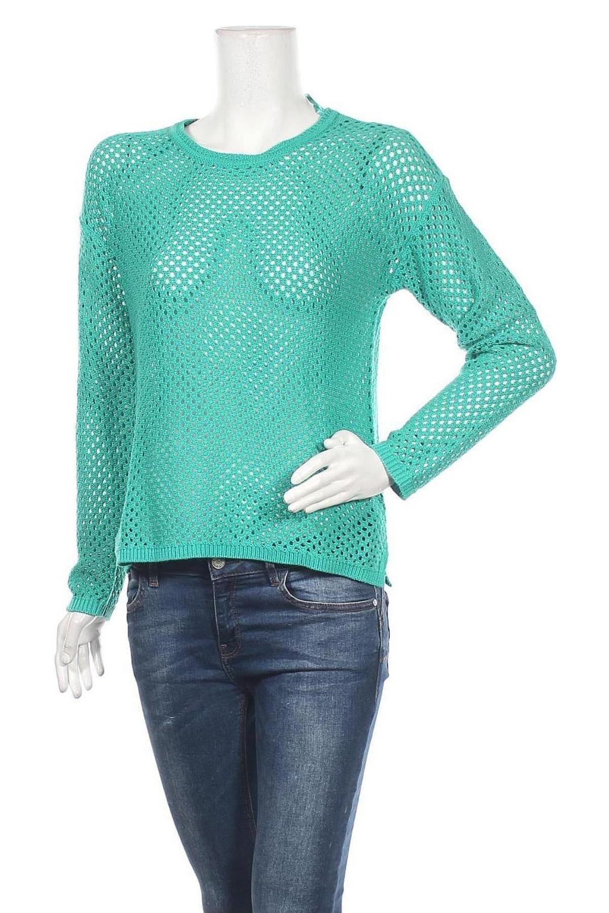 Дамски пуловер Montego, Размер M, Цвят Зелен, 55% полиакрил, 45% памук, Цена 14,00лв.