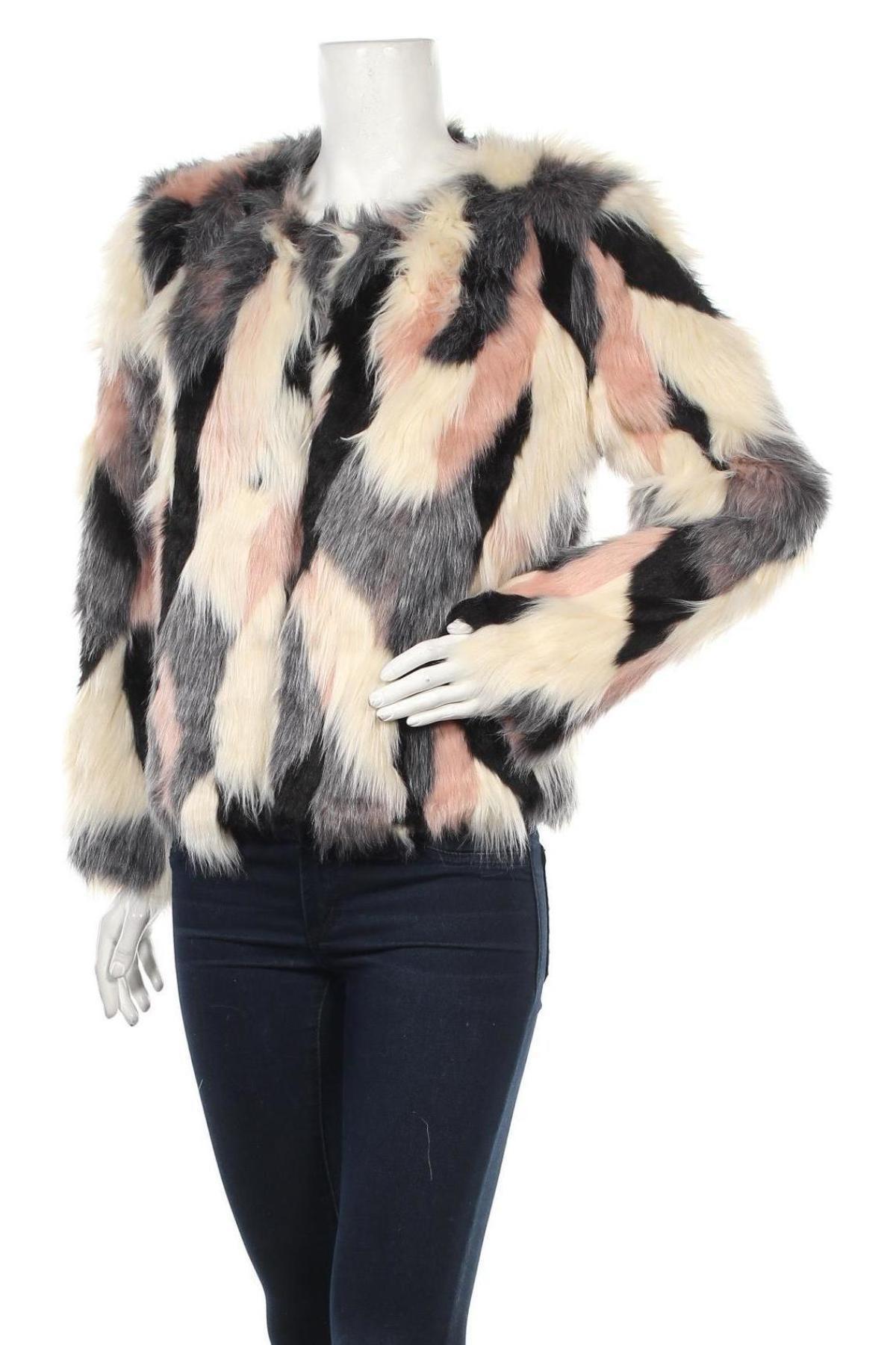 Дамско палто Studio, Размер M, Цвят Многоцветен, 84% акрил, 16% полиестер, Цена 77,25лв.