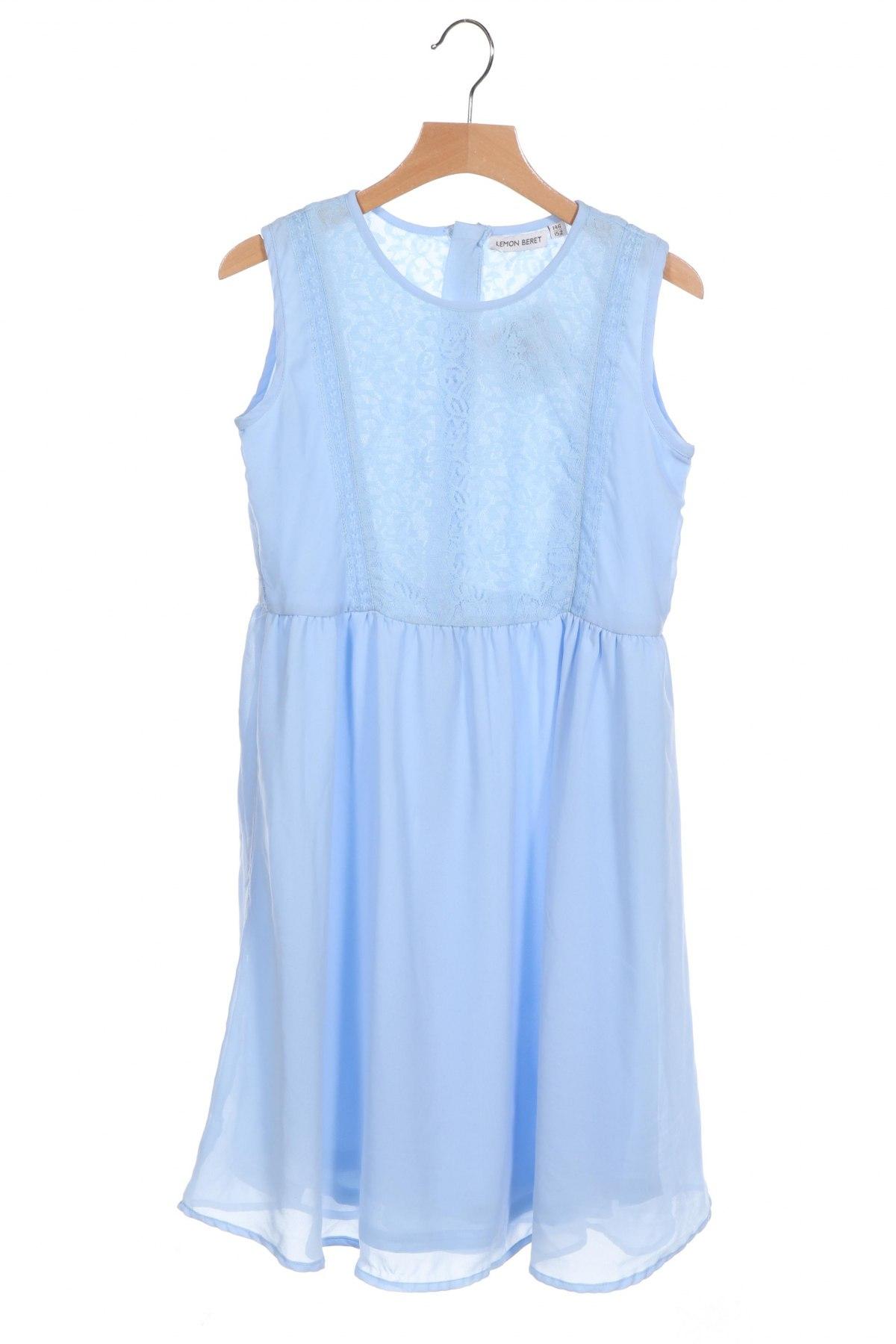 Παιδικό φόρεμα Lemon Beret, Μέγεθος 10-11y/ 146-152 εκ., Χρώμα Μπλέ, Πολυεστέρας, Τιμή 12,41€