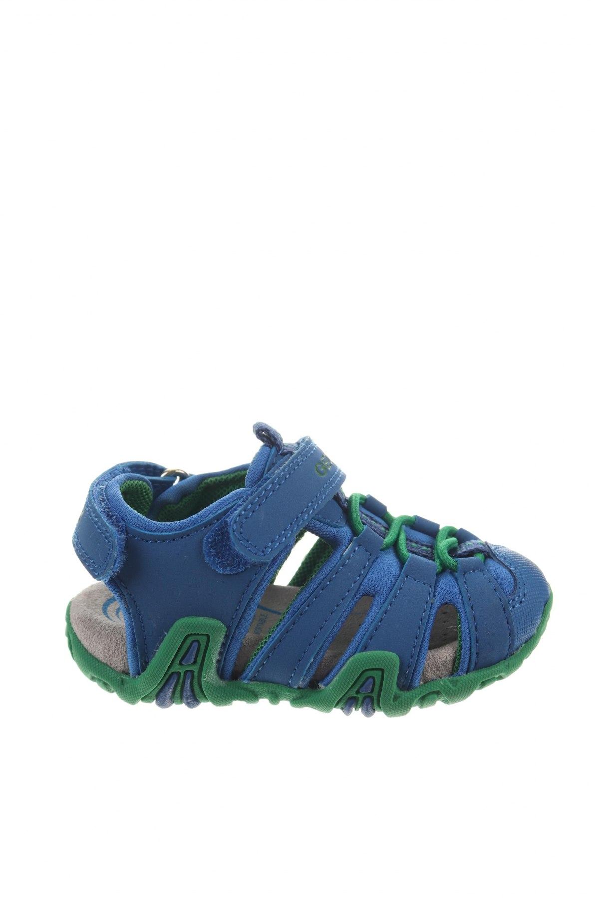Παιδικά σανδάλια Geox, Μέγεθος 20, Χρώμα Μπλέ, Δερματίνη, κλωστοϋφαντουργικά προϊόντα, Τιμή 27,74€
