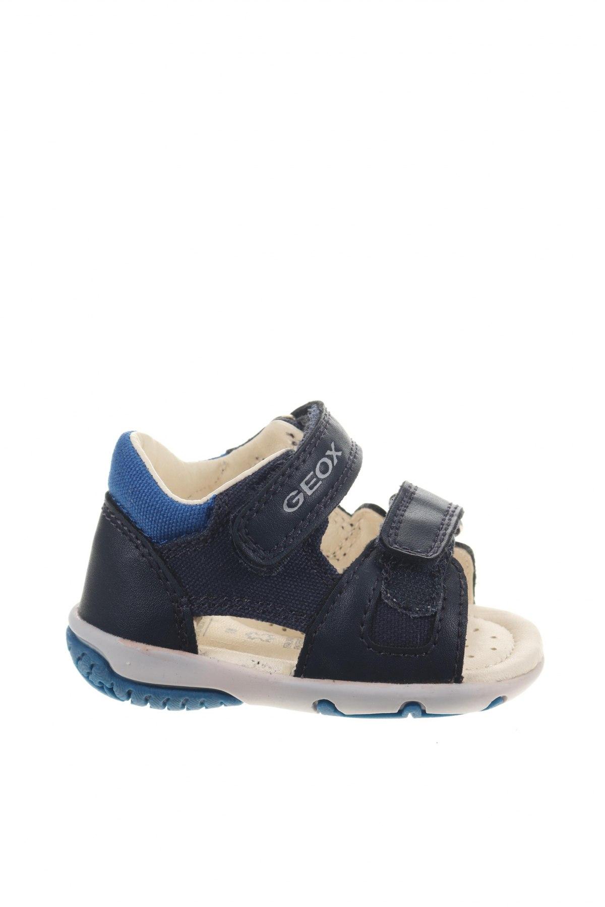 Детски сандали Geox, Размер 18, Цвят Син, Текстил, еко кожа, Цена 59,25лв.