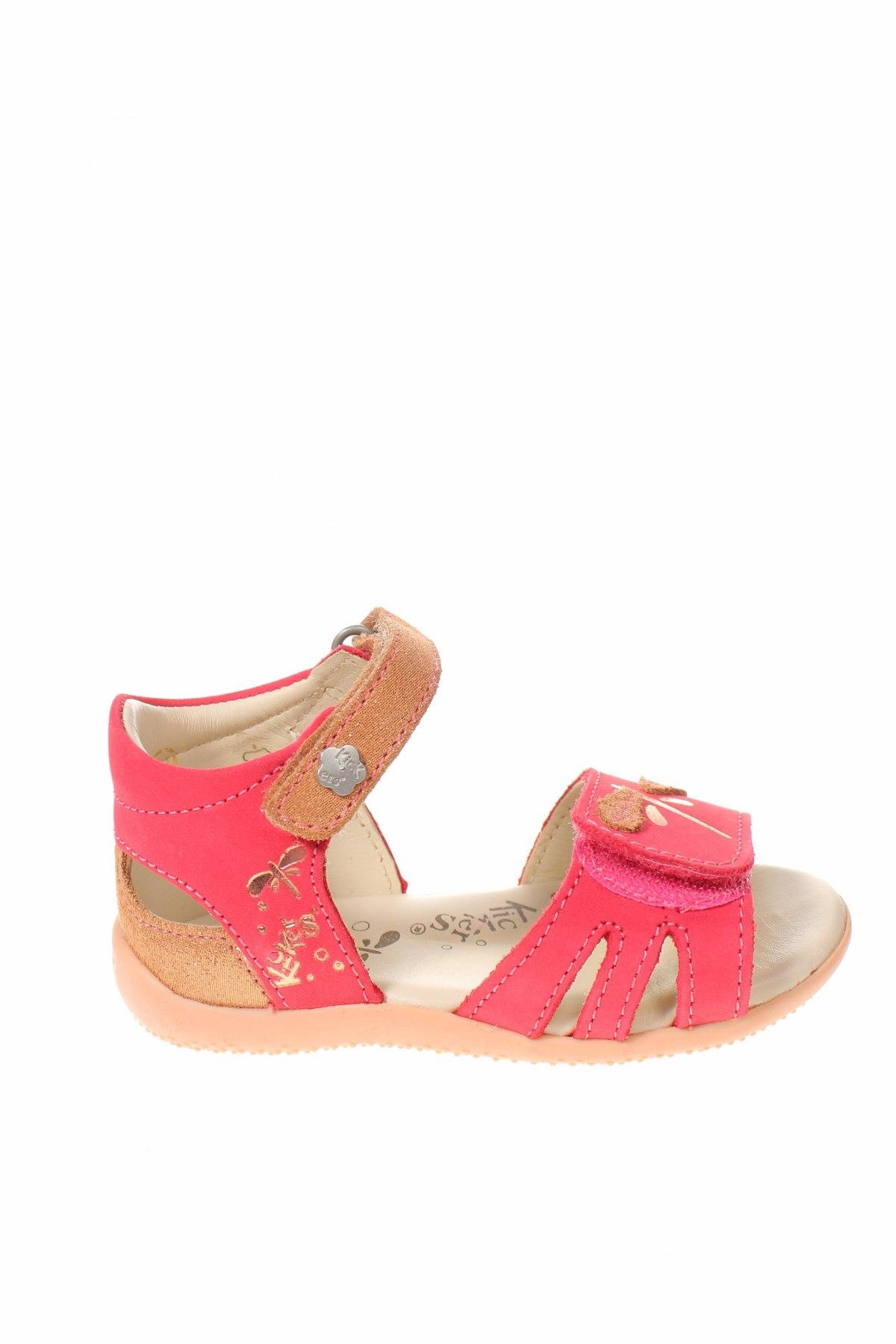 Παιδικά σανδάλια Kickers, Μέγεθος 21, Χρώμα Ρόζ , Γνήσιο δέρμα, Τιμή 24,93€