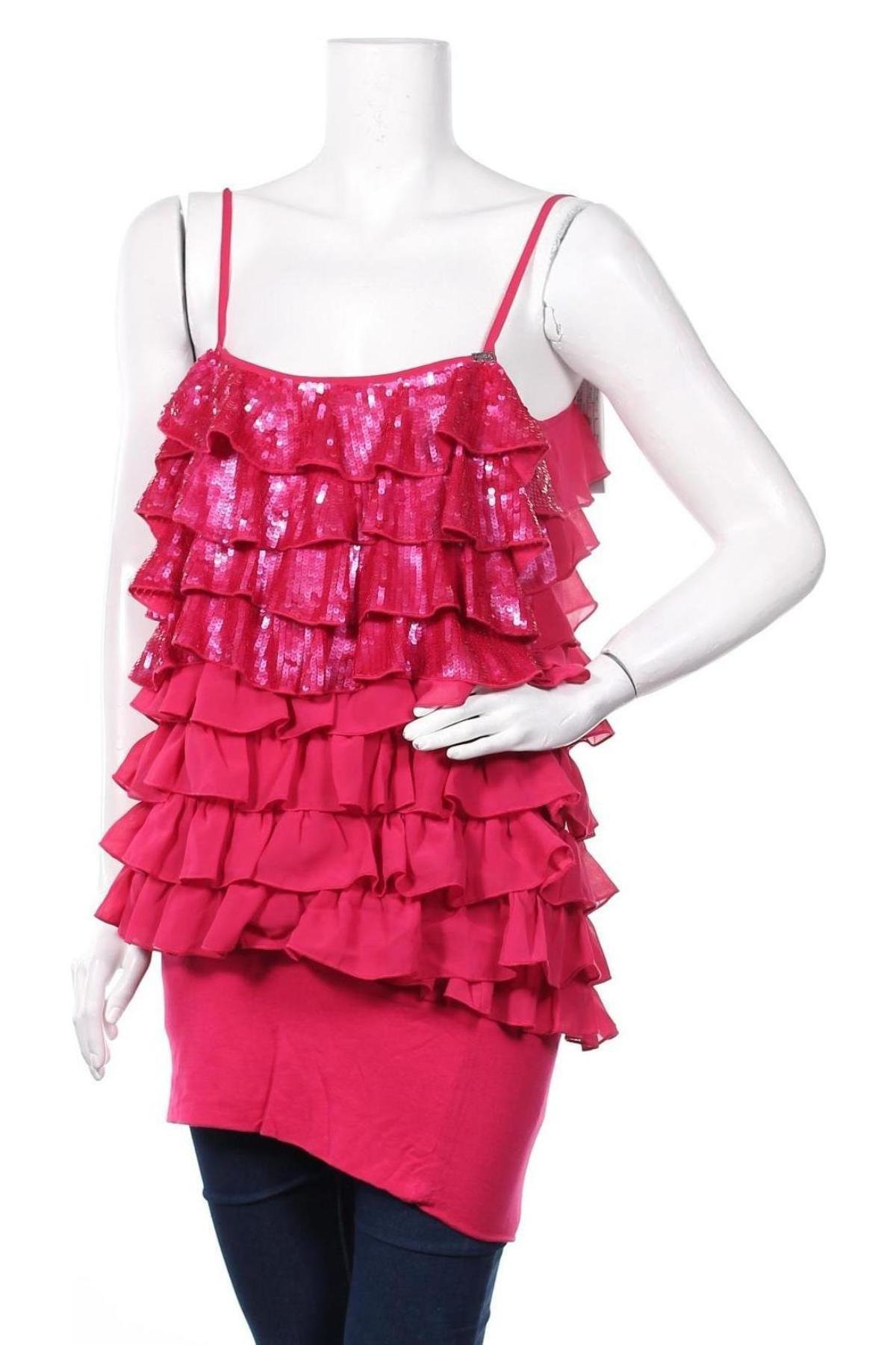 Туника Miss Sixty, Размер L, Цвят Розов, 94% вискоза, 6% еластан, Цена 57,77лв.
