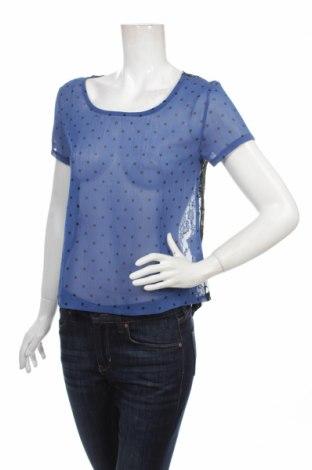 Дамска блуза Uk 2 La, Размер S, Цвят Син, Полиестер, Цена 4,59лв.