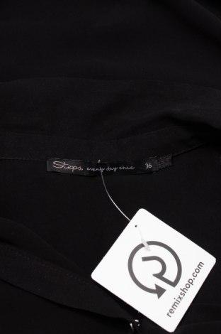Γυναικείο πουκάμισο Steps, Μέγεθος S, Χρώμα Μαύρο, 100% πολυεστέρας, Τιμή 9,28€