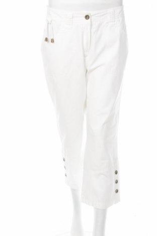 Дамски панталон Andrea, Размер M, Цвят Бял, Памук, Цена 3,08лв.