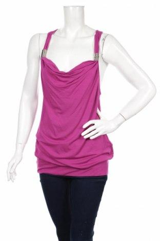Γυναικείο αμάνικο μπλουζάκι Trend One, Μέγεθος S, Χρώμα Βιολετί, 95% βισκόζη, 5% ελαστάνη, Τιμή 2,48€