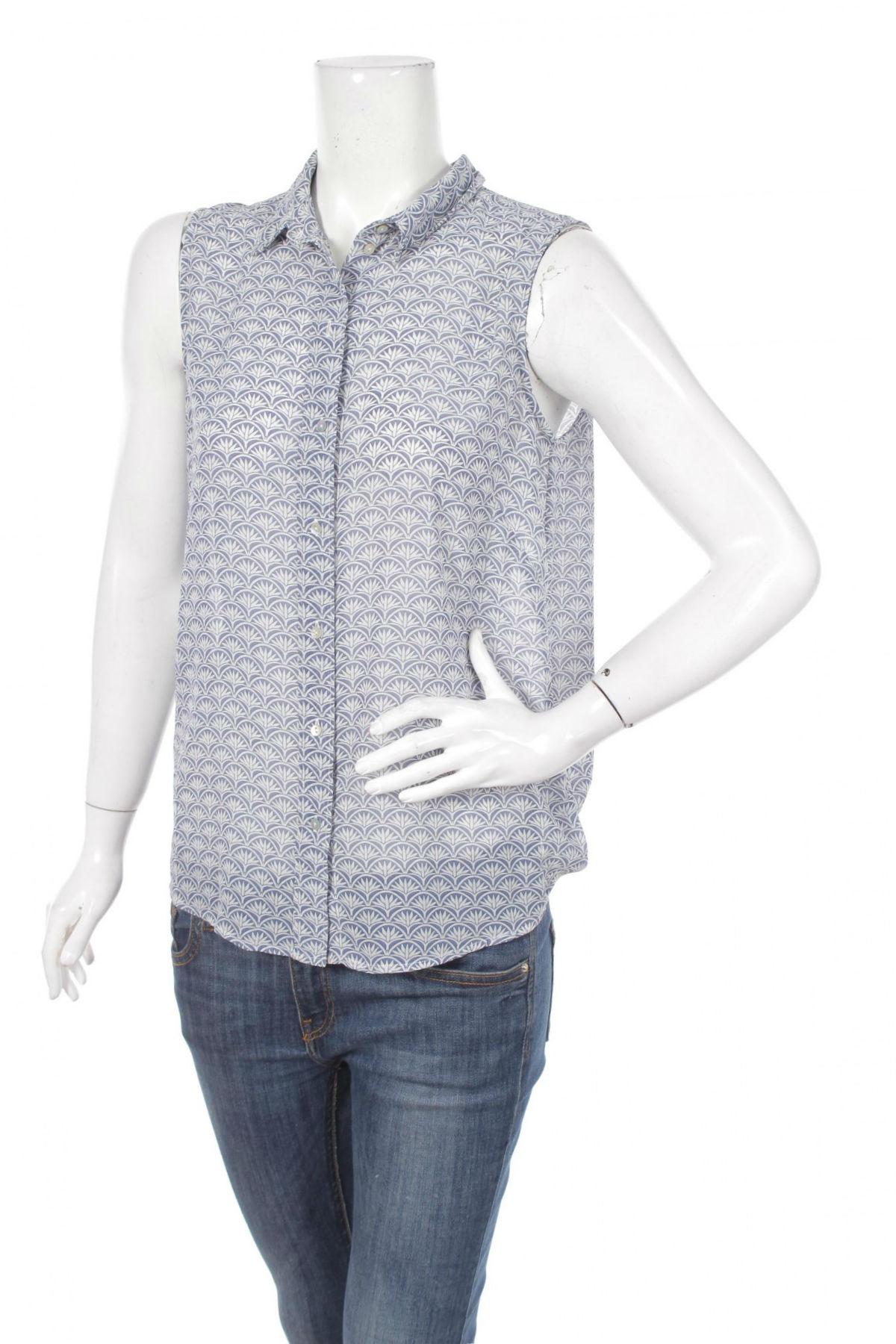 Γυναικείο πουκάμισο H&M, Μέγεθος M, Χρώμα Μπλέ, 100% πολυεστέρας, Τιμή 11,13€