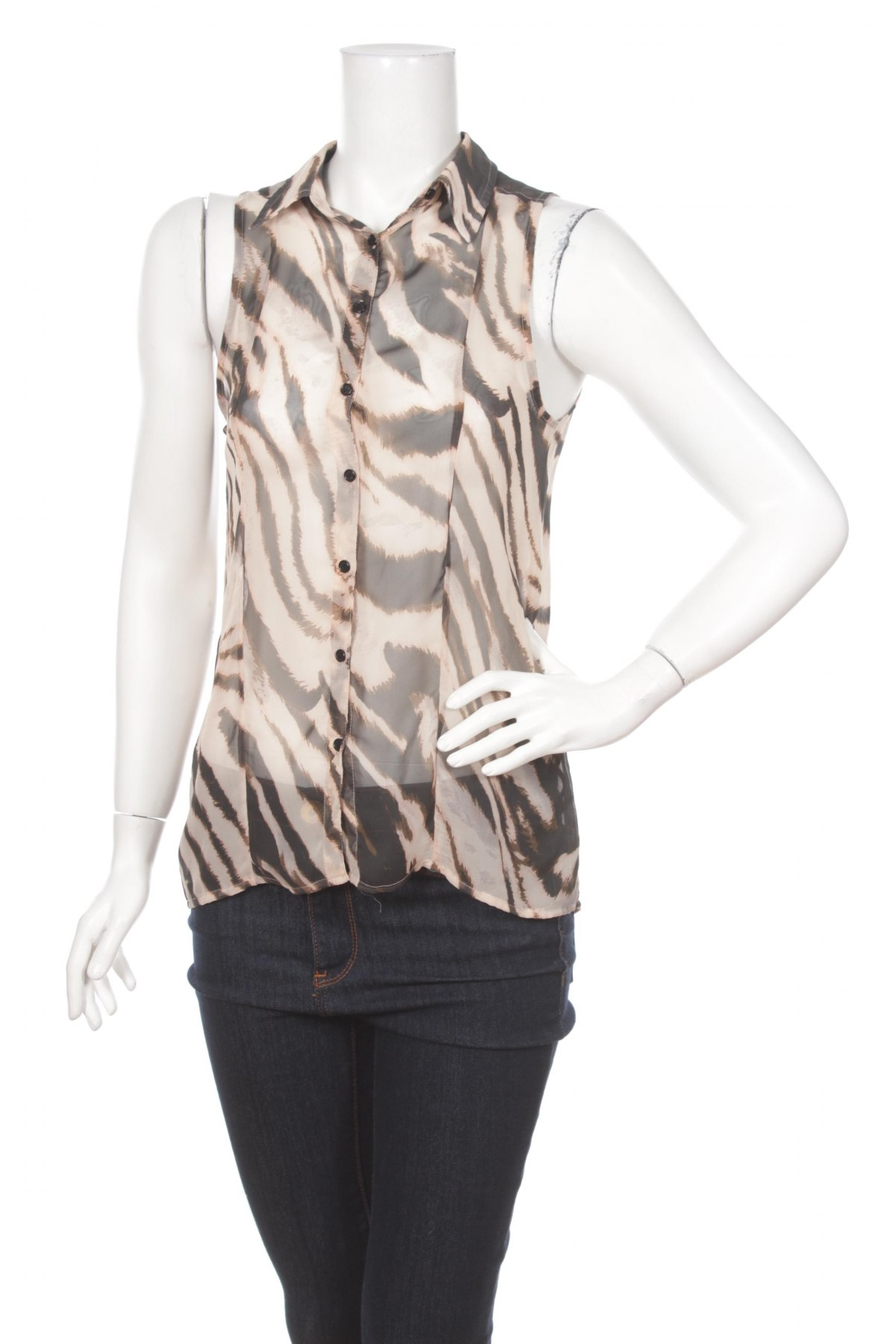 Γυναικείο πουκάμισο Zebra, Μέγεθος S, Χρώμα Πολύχρωμο, 100% πολυεστέρας, Τιμή 9,28€