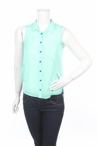 Дамска риза Bershka, Размер S, Цвят Зелен, Цена 6,78лв.