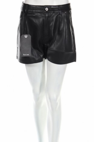 Γυναικείο κοντό δερμάτινο παντελόνι Salsa