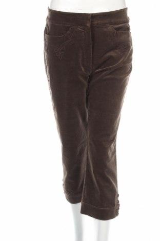 Дамски панталон Steilmann, Размер M, Цвят Кафяв, 97% памук, 3% еластан, Цена 11,04лв.