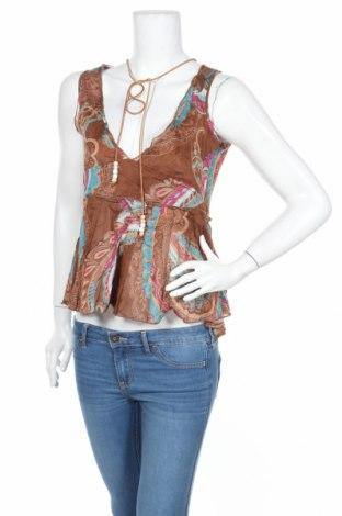 Γυναικείο αμάνικο μπλουζάκι Henry Cotton's, Μέγεθος L, Χρώμα Πολύχρωμο, Βαμβάκι, Τιμή 12,67€