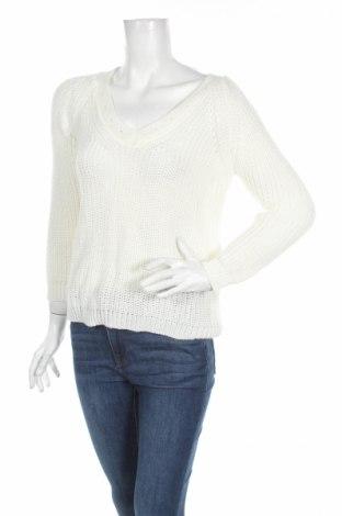 Дамски пуловер Beautiful, Размер M, Цвят Бял, 70% акрил, 30% вълна, Цена 66,36лв.