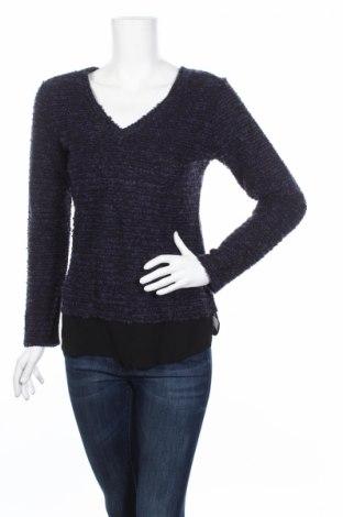 Дамски пуловер Camaieu, Размер S, Цвят Син, 91% акрил, 6% полиестер, 2% вълна, 1% метални нишки, Цена 13,57лв.